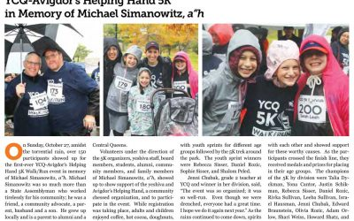 YCQ-Avigdor's Helping Hand 5K in Memory of Michael Simanowitz