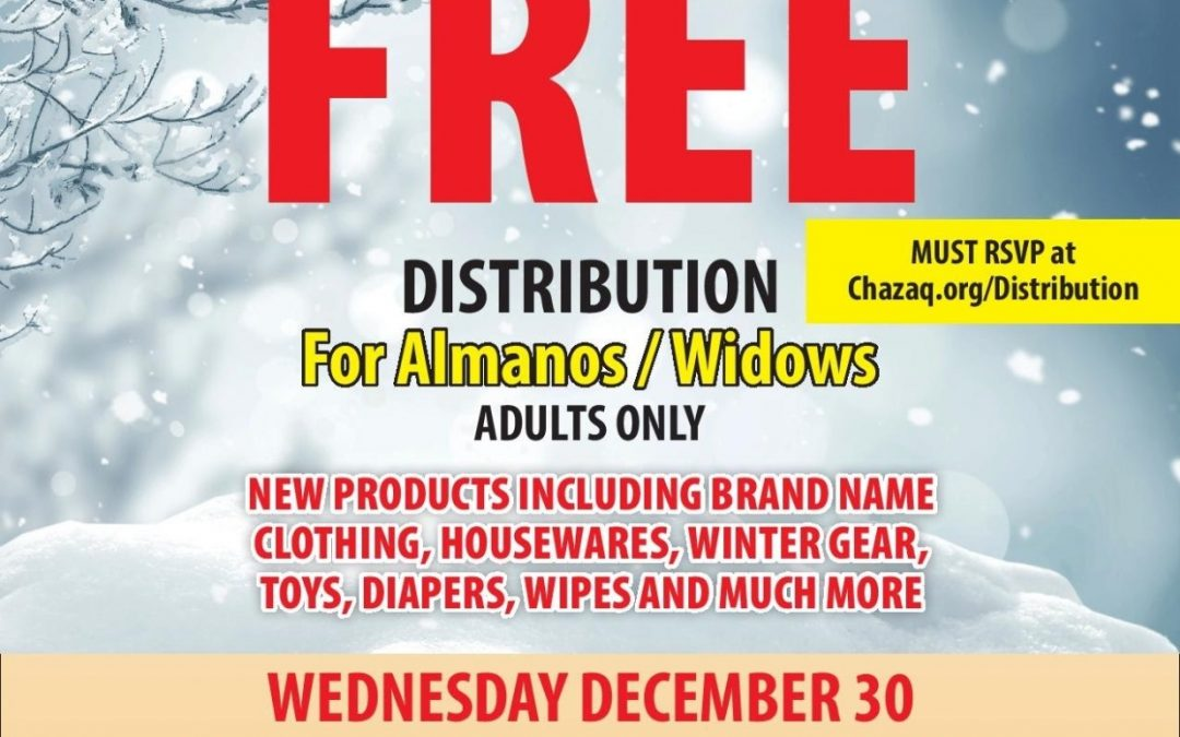 FREE Distribution for Almanos / Widows